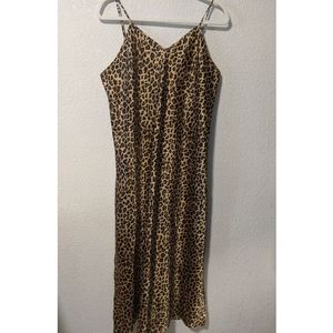 Cheetah print polyester night gown.